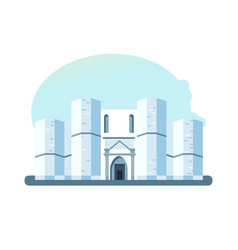 building castel del monte located on small hill vector image