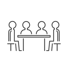 Business partner people icon symbol success team vector image