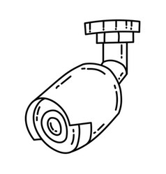 cctv icon doodle hand drawn or outline icon style vector image