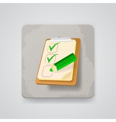 Checklist with a pencil icon vector