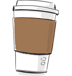 coffee cup fashion style vector image