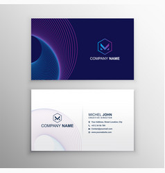 Colorful business card design template vector