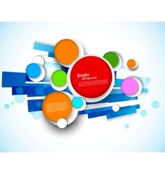 Colorful design with circles vector image