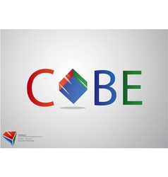 Cube logo background vector