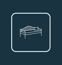 Daybed icon line symbol premium quality isolated vector
