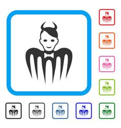 devil spectre framed positive icon vector image