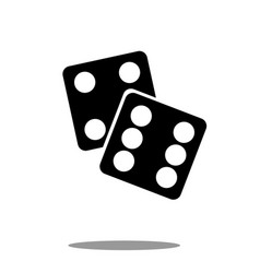 Dice icon black silhouette on white background vector