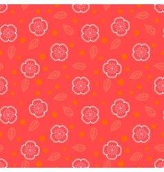 Ditsy pattern with small white sakura flowers vector