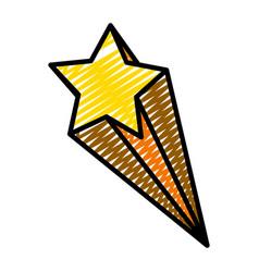Doodle nice shooting star art design vector