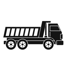 Dumper truck icon simple vector