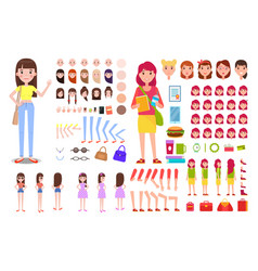 Female constructor collection vector
