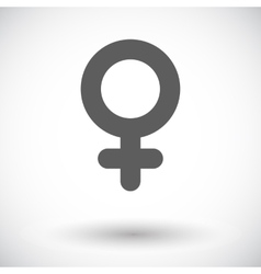 Female gender sign vector image
