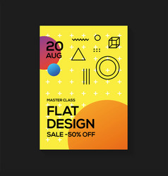 flat design poster templates vector image