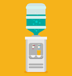 Flat icon for water cooler gray water cooler with vector