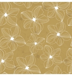 Floral seamless pattern with beautiful flowers vector image