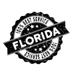 florida best service stamp with grunge style vector image