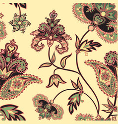 Flourish seamless pattern floral background vector