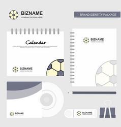 football logo calendar template cd cover diary vector image