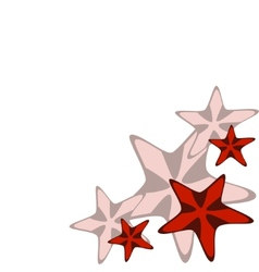 Frame with red starfishes vector