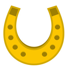 Golden horseshoe icon isolated vector