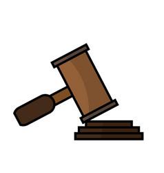 Hammer law icon vector