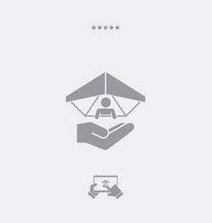 hang glider concept - minimal icon vector image