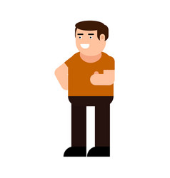 happy man shows gesture cool icon vector image