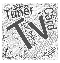 Hdtv tuner card Word Cloud Concept vector