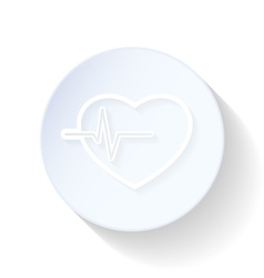 Heartbeat thin lines icon vector image