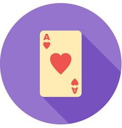 Hearts card vector
