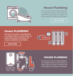 House plumbing and plumber fixture web vector