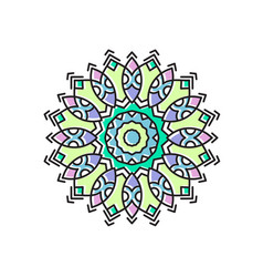 indian ornament mandala vector image