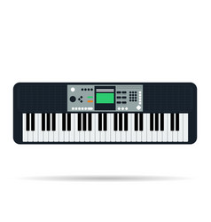 Isolated flat icon of musical keyboards vector