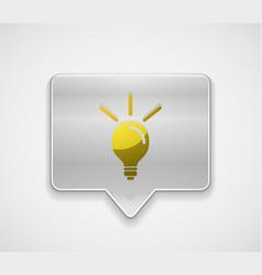 light bulb new idea concept web button vector image
