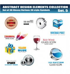logo collection vector image
