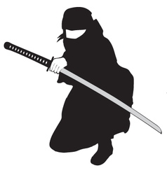 Ninja black vector