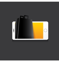 Online mobile shopping concept background vector