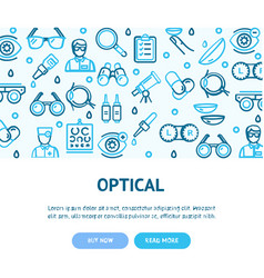 ophthalmology and optometry flyer banner posters vector image