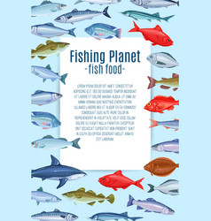 Page design with fish vector