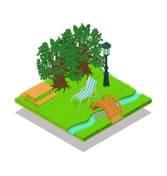 Picturesque place concept banner isometric style vector