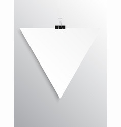 Poster empty triangle mockup vector