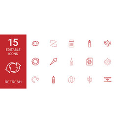 refresh icons vector image