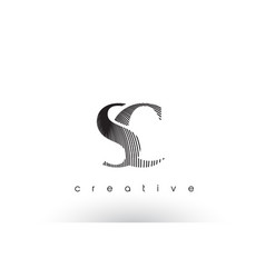 Sc logo design with multiple lines and black and vector