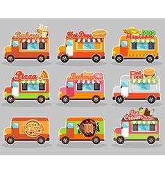 set food truck vector image