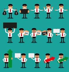 Set of office Businessman vector image
