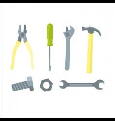 set tools vector image vector image