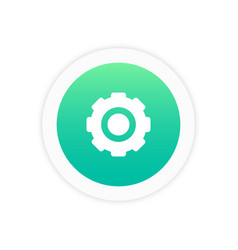 settings icon sign vector image