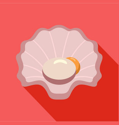 Shell icon flat style vector