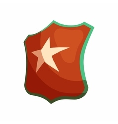 Shield star icon cartoon style vector image