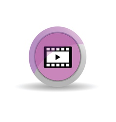 sticker film tape pink vector image